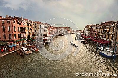 Venice, View from Rialto Bridge. Italy.