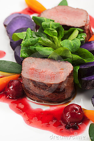 Free Venison Dish Royalty Free Stock Photo - 12955915