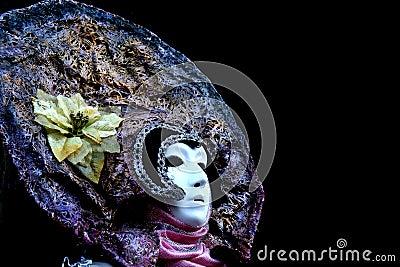 A venitian masked woman