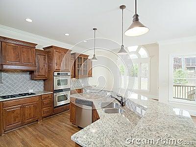 Ventanas interiores caseras de lujo modelo del arco de la cocina
