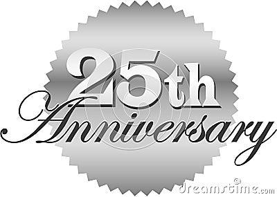 Venticinquesimi Guarnizione/ENV di anniversario
