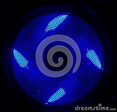 Ventilador llevado azul