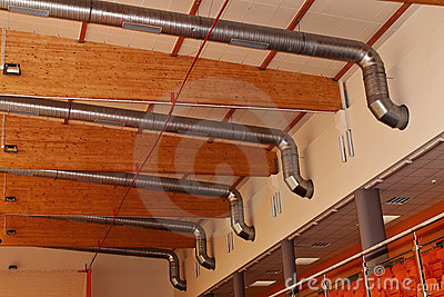Ventilation and air-conditioning metal ducts.