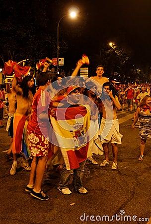 Ventilatori della Spagna Immagine Stock Editoriale