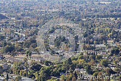 Ventura County California Suburban Cityscape
