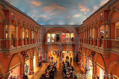 Venus Fort Shopping Mall, Odaiba, Tokyo, Japan Editorial Stock Image