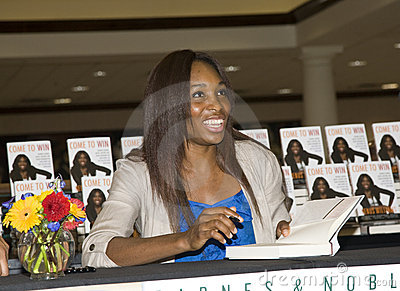 Venus Williams  Book Tour Editorial Stock Image