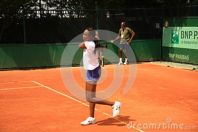 Venus Williams training at Roland Garros 2012 Editorial Image