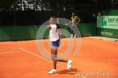 Venus Williams training at Roland Garros 2012 Editorial Image