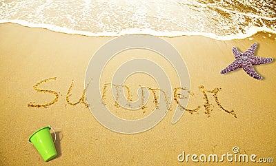 Verão escrito na areia