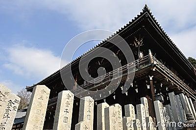 Veranda eines japanischen Tempels