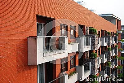 Veranda and red wall
