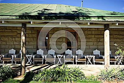 Veranda stone building
