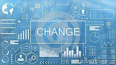 Verandering, Geanimeerde Typografie stock video