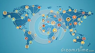 Verbindungsleute der Welt, Netz des globalen Geschäfts Social Media-Service Ver 2