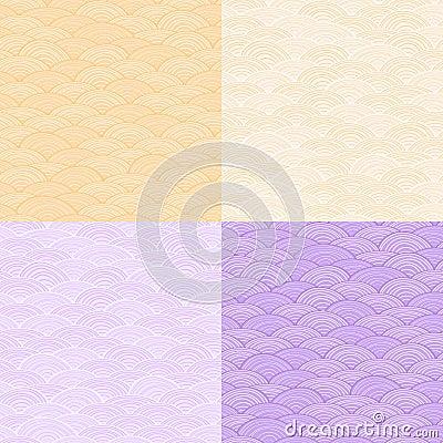 Verbleek Één Abstract Naadloos Patroon van de Kleur