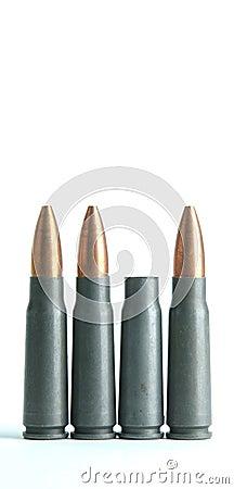 Verbrauchte Gewehr Gewehrkugel