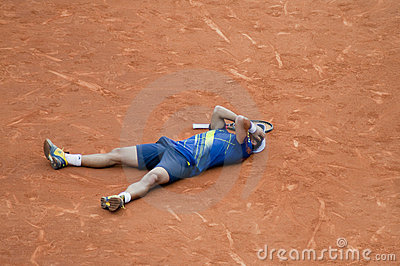 Verdasco just won Editorial Stock Photo