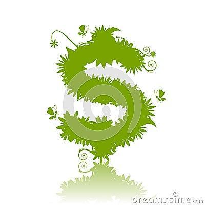 Verde de la muestra de dólar