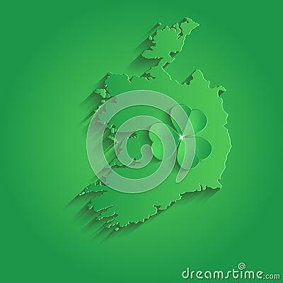 Verde della carta 3d dell 39 acetosella della st patrick day - Immagini st patrick a colori ...