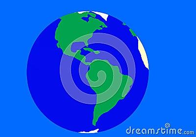 Verde - fundo azul da terra
