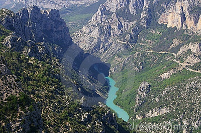 Verdon gorges, river, canyon