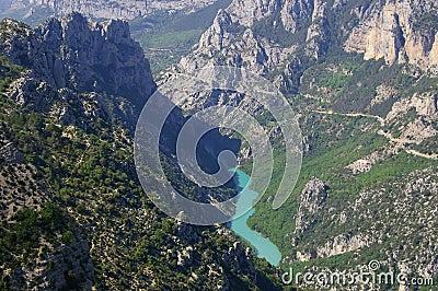 Verdon gorges, river, canyon