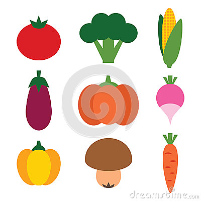 Verduras fijadas