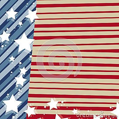 Verenigde staat-Amerikaanse vlag