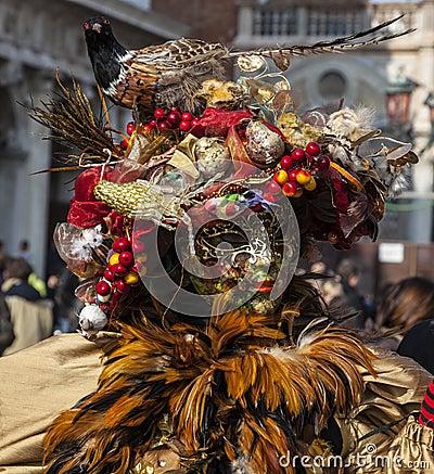 Verfijnde Venetiaanse Vermomming Redactionele Afbeelding