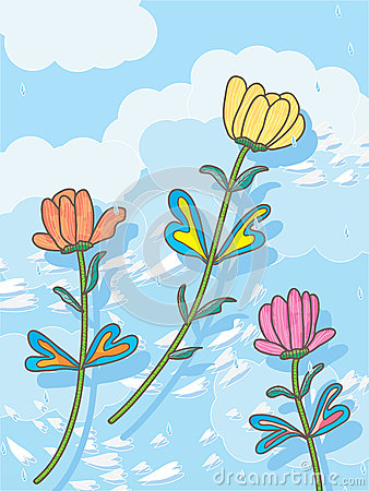 Överför blommor till himmel