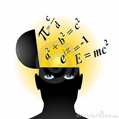 vergelijkingen van het genie van math de open hoofd