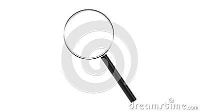 Vergrootglas dat op witte achtergrond wordt ge?soleerd Gezoem binnen stock footage