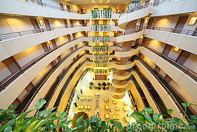 Verhalen in het hotel van het Congres van de Iris Redactionele Stock Afbeelding
