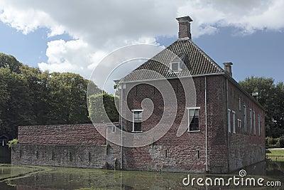 Verhildersum castle with moat Editorial Stock Photo