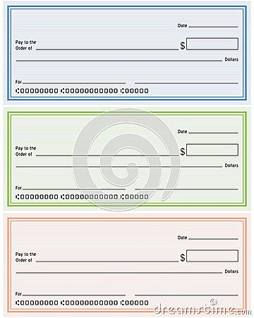 Verificações de banco genéricas em branco
