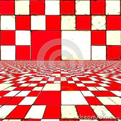 Verificadores vermelhos distorcidos