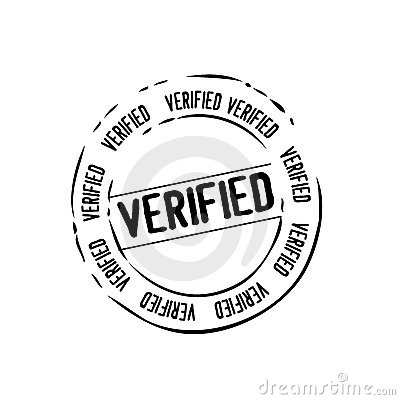 Verified mail stamp vector