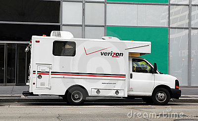 Verizon Vehicle Editorial Stock Photo