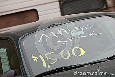 Verkäufe des benutzten Autos