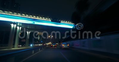 Verkehr in China, Shenzhen Zeitspanne stock footage