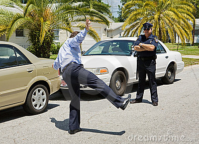 Verkehrs-Anschlag - Nüchternheit-Prüfung