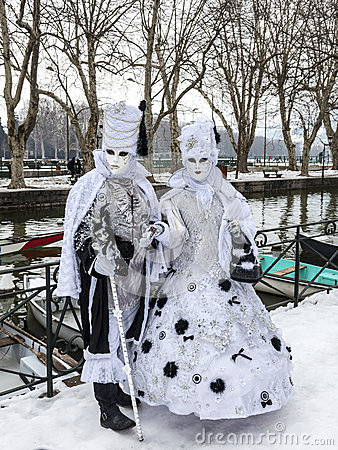 Verkleidete Paare Redaktionelles Bild
