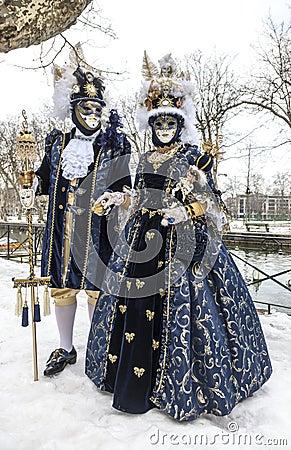 Verkleidete Paare Redaktionelles Stockbild