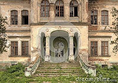 Verlaten oud huis vooraanzicht hdr stock foto afbeelding 17070100 - Huis verlenging oud huis ...
