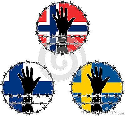 Verletzung der Menschenrechte auf Skandinavier