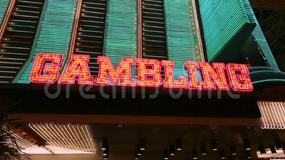 Verlicht het gokken teken stock video