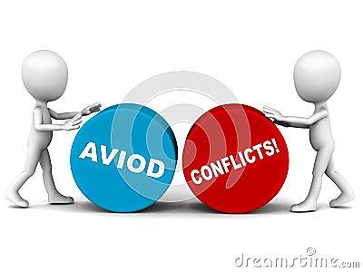 Vermeiden Sie Konflikt