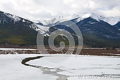 Vermilion Lake frozen over