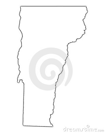 Vermont Usa Outline Map Royalty Free Stock Image Image